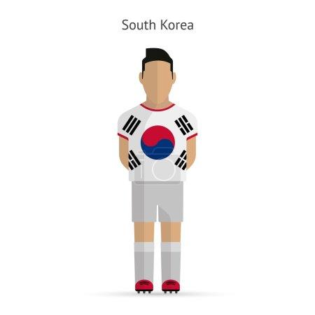 South Korea football player. Soccer uniform.