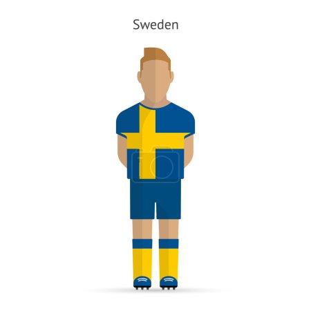 Sweden football player. Soccer uniform.