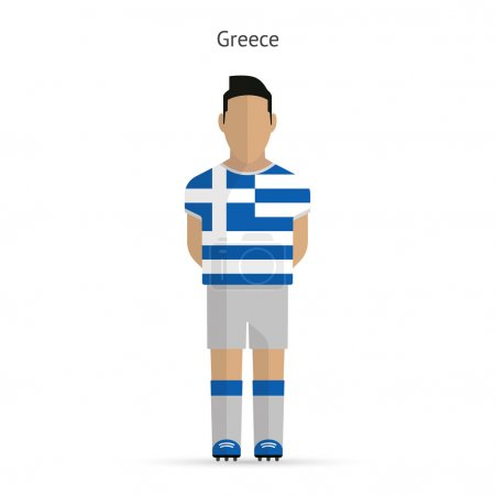 Greece football player. Soccer uniform.
