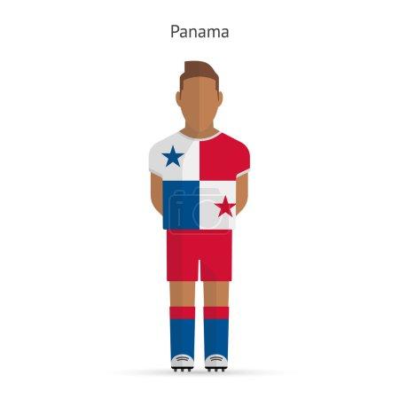 Panama football player. Soccer uniform.