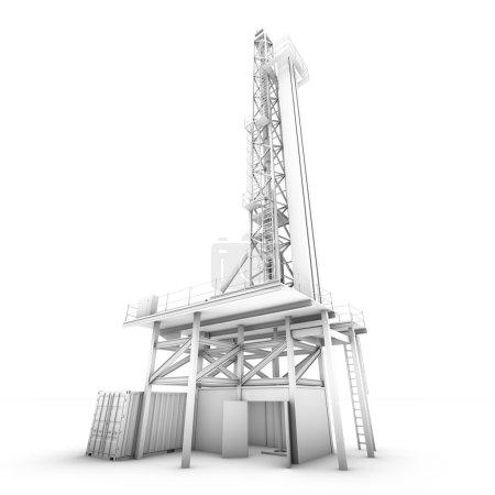 3D-Ölbohrmaschine