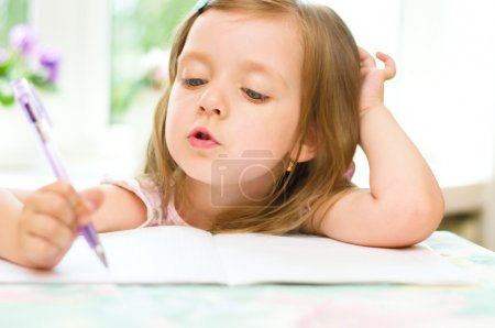 child writing