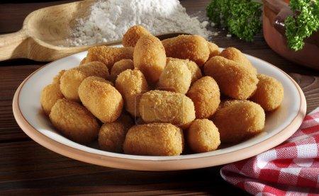 Mini croquettes on plate...