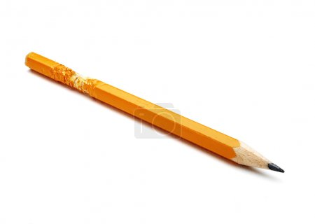 Chewed pencil isolated...