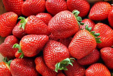 Photo for Set in a box of strawberries before eating - Royalty Free Image