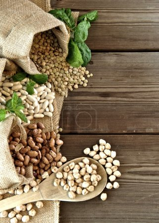Lentils, chickpeas, red beans