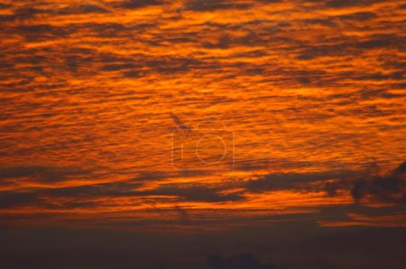 Photo for The fiery sky before sunrise, Indian Ocean, Maldives - Royalty Free Image