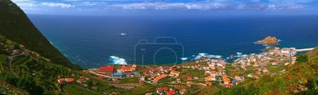 Panorama of the small ocean town