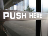 Push here sign