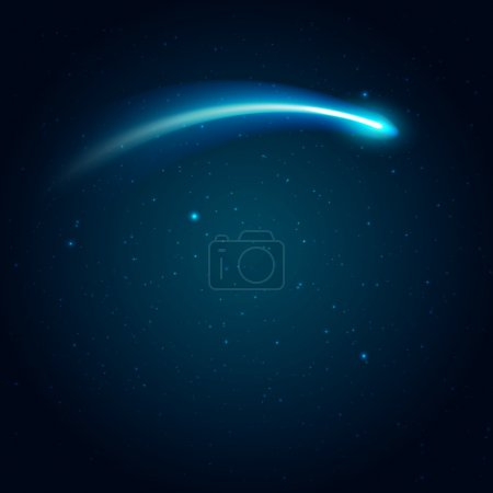 Illustration for Shooting  star vector illustration with space for you text - Royalty Free Image