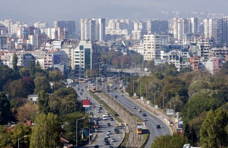 General view Sofia Bulgaria