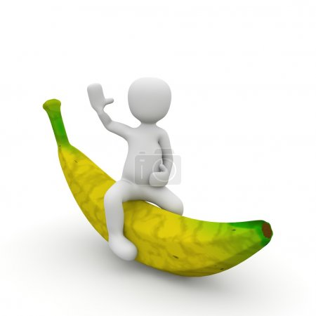 Photo for The ride on the banana is dangerous but very healthy - Royalty Free Image