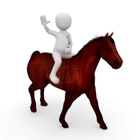 A rider on horseback