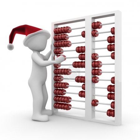 A character calculates the cost of Christmas this ...