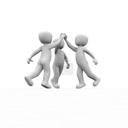 Photo pour Un pour tous et tous pour un, la célèbre devise des Mousquetaires. - image libre de droit