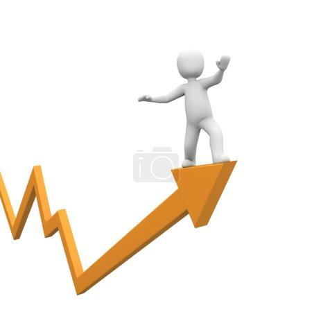 Photo pour Les stocks augmentent et la société fait de bonnes ventes cette année . - image libre de droit