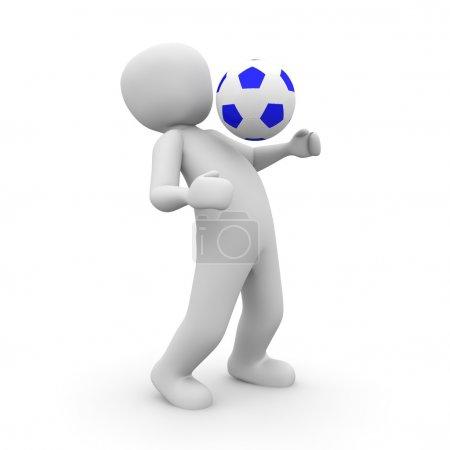 Soccer player blue