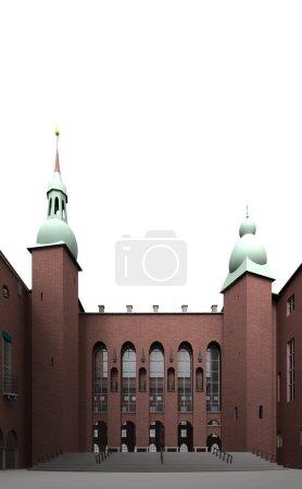Photo pour Pour la conception et la mise en place de la mairie de nombreux artistes ont été engagés . - image libre de droit