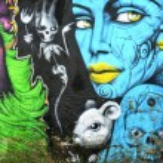 Wall painted murales street art...