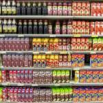 Supermarket Shelves Full With Different Natural Fr...