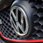 Black Volkswagen Golf GTI Front View...