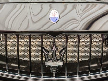 Maserati Sign Close Up