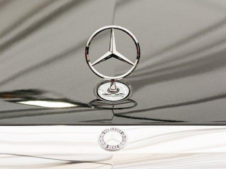 Mercedes Benz Sign Close Up