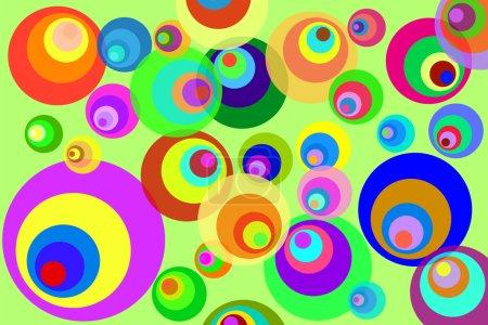 Illustration pour Disco psychédélique rétro Cercles fond - image libre de droit