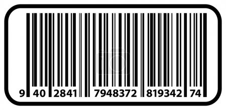 Price Tag Label With Bar Code