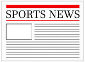 Sports News Headline In Newspaper