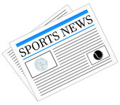 Sports News Newspaper Headline Front Page Vector Illustration
