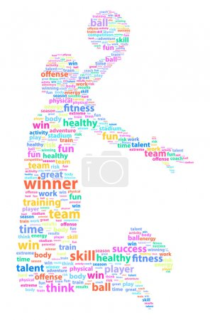 Basketball Player Sports Word Cloud