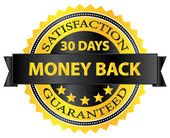 30 Days Money Back Guaranteed Badge Vector Illustration