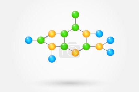 Guanine Molecule Chemical Formula