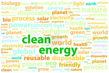 Clean Friendly Environment Energy Word Cloud Conce...
