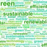 Clean Sustainable Renewable Energy Word Cloud Conc...