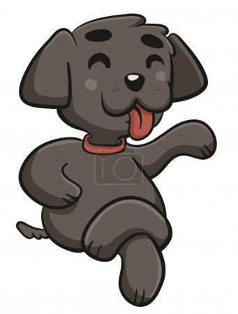 Illustration for Vector illustration of a cartoon dog sitting with the legs crossed. - Royalty Free Image