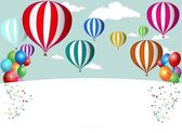 Hot Air Balloon Celebration background