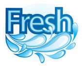 Fresh and Water Label