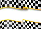 Vector Illustration of Race background Checkered black and white