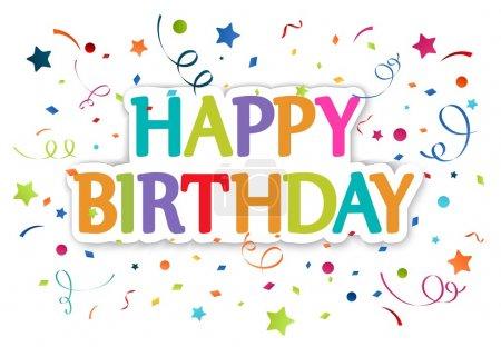 Illustration pour Illustration vectorielle de la carte de vœux Joyeux anniversaire - image libre de droit
