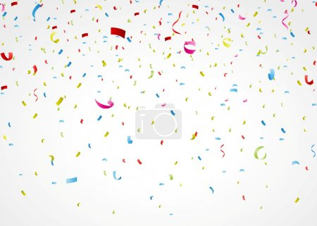 Illustration for Vector Illustration of colorful confetti on white background - Royalty Free Image