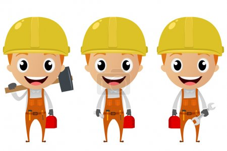 Illustration for Vector Illustration of construction worker cartoon character - Royalty Free Image