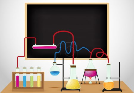 Chemical laboratory background