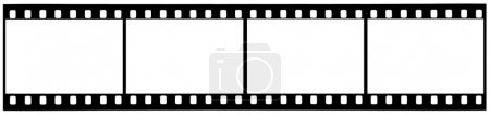 A strip of used 35mm film with clipping paths