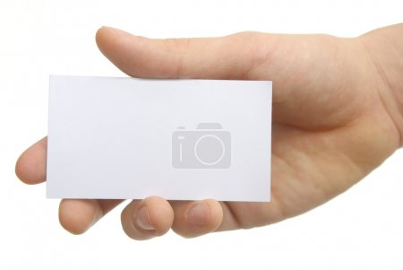 Blank business card with clipping paths