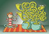 Kobra kígyó labirintus játék