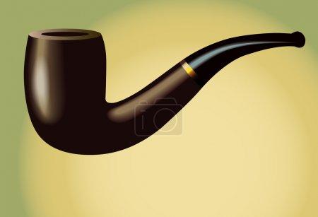 Illustration pour Smoking Pipe : isolé sur le fond. L'illustration est en mode vectoriel eps10 ! - image libre de droit