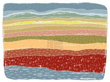 Illustration for Grunge African Landscape: Savannah. Illustration is in eps10 vector mode - Royalty Free Image