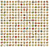 Collection of 289 school and education doodled icons